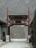 Gate Near The Great Wall Of China