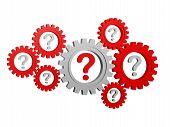 Question-marks In Gearwheels