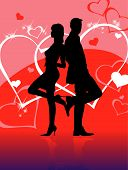Love Story Silhouette