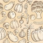 Seamless background vegetable 2 - eps10 vector illustration.