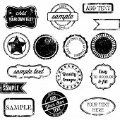 Vector Set van Retro zegels en Badges