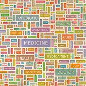 MEDICINE. Word cloud concept illustration.