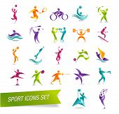 Deportes colorido icon set vector illustration