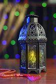 Ramadan lantern and rosary
