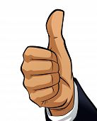 Man Hand Making A Thumb Up Gesture