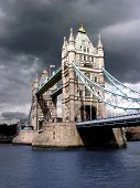 Tower Bridge By Cloudy Day poster