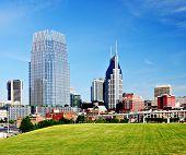 Nashville, Tennessee cityscape in the day.