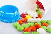Pills In Plastic Jar