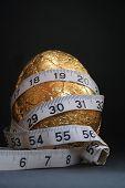 1 Easter Egg Gold  Diet Tape Measure 2