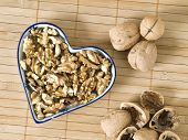 Still Life With Nuts Forming A Heart