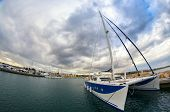 Big Sailing Catamaran Moored