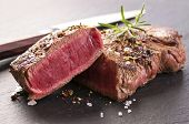 picture of rib eye steak  - beef steak - JPG