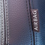 Airbag Label On The Side Of A Car Seat