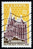 Postage Stamp France 1972 Cathedral, Aachen, Germany
