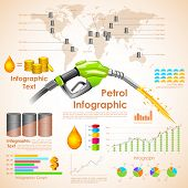 illustration of petroleum infographic chart with statistic