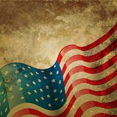 vintage style american flag background