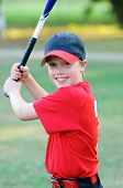 Little League Baseball junge Portrait