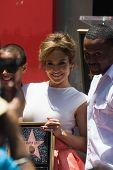 Jennifer Lopez en el Hollywood Walk of Fame ceremonia