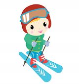 skiing kid