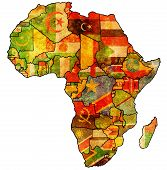 African Union On Actual Map Of Africa mouse pad