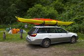 Mendocino, California, Usa - June 8. Sea Kayak Car Camping In Russian Gulch State Park, Mendocino Co
