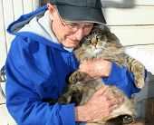 Senior With Cat
