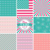 Pink White And Turquoise, stars and stripes - USA backgrounds
