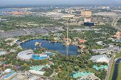 ORLANDO, USA - NOVEMBER 13: Aerial view of the adventure park Sea World Orlando - one of seventh-mos