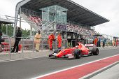 MOSCOW - JUNE 23: Yann Cunha of AV Formula team (ESP) ready for start at World Series by Renault in