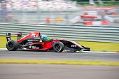 MOSCOW - JUNE 23: Roman Mavlanov of RC Formula team (LUX) race at Formula Renault 2.0 race at World