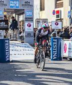 The Cyclist Jens Voigt- Paris Nice 2013 Prologue In Houilles