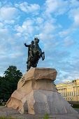 Bronze Horseman At Dawn, Saint-petersburg, Russia