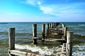 Groynes In The Baltic Sea