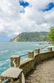 Fragment of Monterosso - Vernazza trail in Italy.