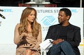 Jennifer Lopez and Denzel Washington at a Boys And Girls Clubs Of America Announcement With Denzel W