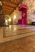 Interior of Templar knights palace in Rhodes island, Greece
