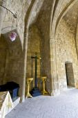pic of filerimos  - Old historic Templar knights medieval church at Rhodes - JPG