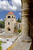 Old historic Templar knights medieval church at Filerimos, Rhodes, Greece