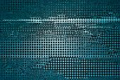 abstract blue background grid mesh holes on distressed vintage grunge background texture