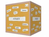 Annuity 3D Cube Corkboard Word Concept