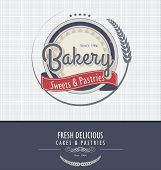 Bakery Retro vintage design Background