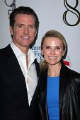 Gavin Newsom, Jennifer Siebel Newsom at the West Coast Premiere Reading of