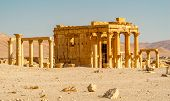 stock photo of zenobia  - Ancient temple ruins in Palmyra complex  - JPG