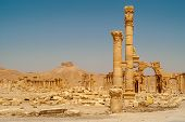 pic of zenobia  - View at the ancient Palmyra ruins in Syria  - JPG