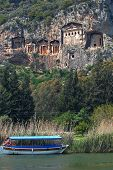 pic of dalyan  - Necropolis of Lycian rock - JPG