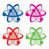 Vector Symbol Of Atom