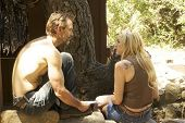 Michael Biehn and Jennifer Blanc On the Set of