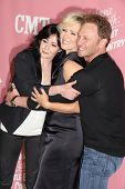 Shannen Doherty, Jennie Garth and Ian Ziering at the Jennie Garth 40th Birthday Celebration, The London, West Hollywood, CA 04-19-12