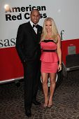 Hank Baskett, Kendra Wilkinson at the Red Cross Red Tie Affair 2012, Fairmont Miramar Hotel, Santa Monica, CA 04-21-12