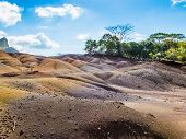picture of chamarel  - Seven Colored Earths in Mauritius also known like Seven colored sands of Chamarel - JPG
